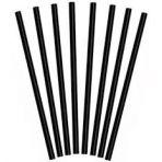 Paquete de 500 pajitas rectas negras pp 8x230mm
