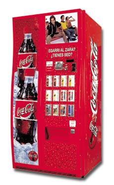 Máquina expendedora de Refrescos cocacola